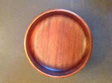 """Wooden Bowl 9.5 """" Mahogany hand made"""