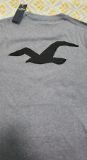 HOLLISTER by Abercrombie Men's Logo Graphic T-Shirt Short Sleeve BLUE NEW