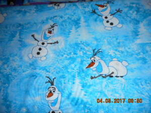 MadieBs Custom Frozen Olaf Snowman Crib or Toddler Bed Sheet Set with Name