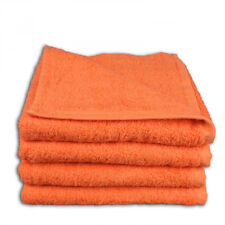 LOT DE 2 SERVIETTES DE TOILETTE 50 x 100 cm – ORANGE CAROTTE