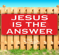 Jesus Is The Answer Advertising Vinyl Banner Flag Sign Many Sizes Usa