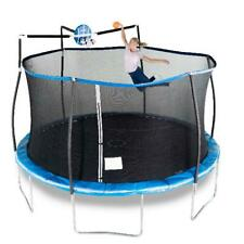 14 ft. Steelflex Trampoline With Enclosure Net And Slama Jama Basketball System