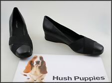 HUSH PUPPIES WOMEN'S BLACK CASUAL COMFORT DRESS SHOES SIZE 9.5 AUST 41 EUR NEW