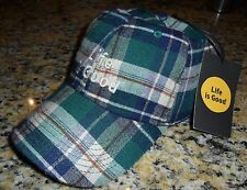 Life is Good PLAID Chill Cap HUNTER GREEN Adult O/S ~ NWT