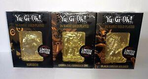 Exodia/Kuriboh/Black Luster Soldier *24 KARAT GOLD PLATED* Ltd Ed *NEW* Yu-Gi-Oh