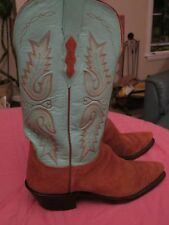 245 Lucchese(1883) Sz 7.5 Camel Rough Out Cowboy Boots