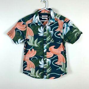 Nixon Floral Short Sleeve Casual Shirt Size Men's Medium