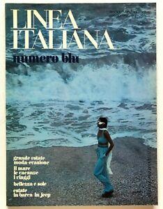 Linea Italiana n. 37 Giugno 1973 Rivista moda vintage Moda mare Beachwear raro