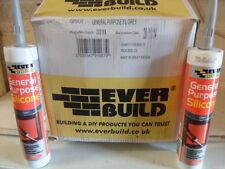 1 Box (25no) Everbuild General Purpose Silicone, Grey, Size C3.