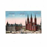 AK Ansichtskarte Wiesbaden / Marktplatz / Rathaus / Hauptkirche - 1923
