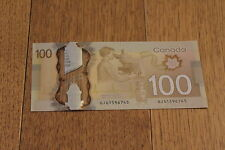 Canadian 100 hundred dollar banknote UNC Canada bill
