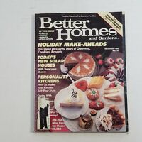 1986 Better Homes & Gardens Magazine November Holiday Make Ahead Recipes Vintage