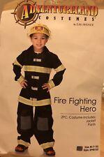 New Rare Adventureland Boys Firefighter Hero Costume Medium High Quality