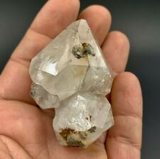 100.3 g Milky Herkimer Diamond Cluster, 4 Crystal Cluster with Rainbows, Hydroca