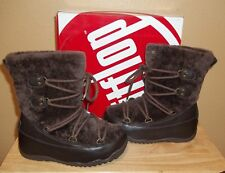 FitFlop Super Blizz Womens Winter Pull-on Boots Chocolate New US 5 / UK 3/ EU 36