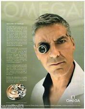 PUBLICITE ADVERTISING 095 2009  OMEGA  montre  SPEEDMASTER  GEORGE CLOONEY