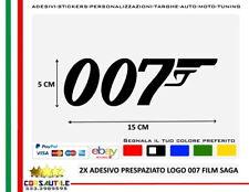 2X ADESIVO 007 FILM SAGA JAMES BOND AGENTE SEGRETO LICENZA DI UCCIDERE LOGO
