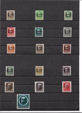 Bayern 1919, Einzelmarken aus Michelnrn: 152 - 170 A **, postfrisch **, Auswahl