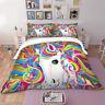 Unicorn Doona Quilt Duvet Cover Set Single/Queen/King Size Bed Pillowcase Animal