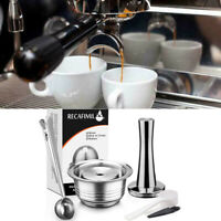 Coffee Capsule Pod Cup Tamper Stainless Reusable Refillable Fit For Dolce Gusto