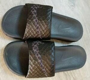 Mens Nike Benassi Solarsoft Slide In Black, Size 8