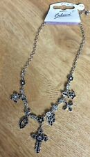 Charm Necklace Silver/Black by Believe NWT