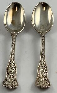 2 pc lot Tiffany & Co Sterling Olympian Demi-tase Spoons ***NO RESERVE***