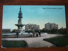 Hospital Belfast, Royal Victoria from Dunville Park. Reliable series Postcard,