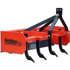 New! 4' Box Blade Tractor Attachment Category 1 Pins; Category 0 Spacing!