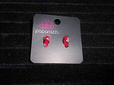 Paparazzi Kids Earrings (new) FLIP FLOPS-RED