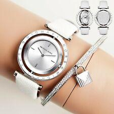 Women's Michael Kors Averi White Leather Strap Watch MK2524
