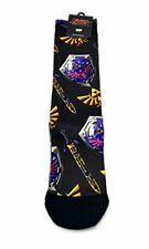 The Legend Of Zelda Twilight Princess Shield Sword Sublimated Crew Socks 1 Pair