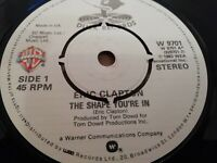 "ERIC CLAPTON * THE SHAPE YOU'RE IN * 7"" SINGLE EXCELLENT 1983 DUCK RECORDS"