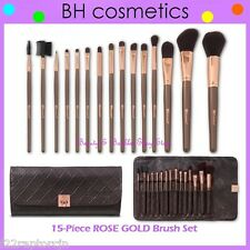 ❤️⭐ NEW BH Cosmetics 😍🔥👍 ROSE GOLD Brush Set 💎💋 15-Piece w/Case Face & Eye