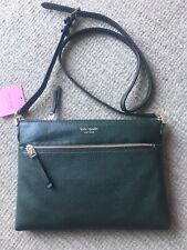 KATE SPADE Polly Leather Crossbody Bag Evergreen NEW with TAGS £ 175