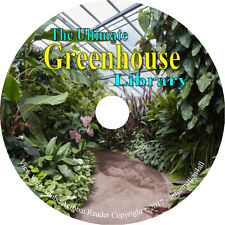 32 Books on CD, Ultimate Greenhouse Library, Glass House, Construction, Garden