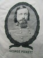 BRAND NEW Civil War CSA GEN GEORGE PICKETT T-Shirt, Confederate, Gettysburg GIFT