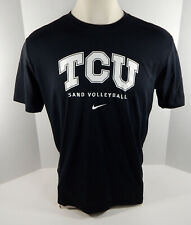 Texas Christian Univeristy TCU Men's Sand Volleyball Black T-Shirt Nike New L