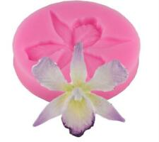 Silicone Mold 3D Orchid Flower Shape Embossing Fondant Cake Decorating Tools