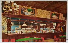 Las Vegas Nev., Million Dollar Golden Nugget Hall Saloon Restaurant Postcard A18