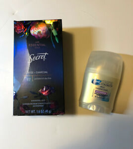 Secret With Essential Oil Rose + Charcoal Deodorant Paraben & Dye Free + Gift