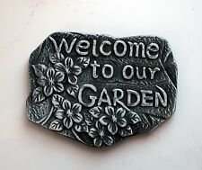 Welcome to our garden  *****       House Wall Plaque Sign