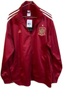 Adidas Spain Soccer/Football Jacket - Dark Red - Men's XL - NEW With Tags