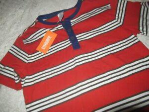 nwt Gymboree orange olive green stripe short sleeve Henley shirt boys 8
