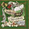 20 SERVIETTEN NAPKINS CHRISTMAS COLLAGE 33 X 33 RENTIER NOTEN CHRISTROSE VINTAGE