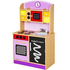 cucina per bambini gioco giocattolo in legno porpora 61x33x101 cm