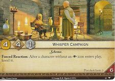 3 x Whisper Campaign AGoT LCG 2.0 Game of Thrones Watchers on the Wall 48