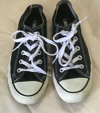 Converse All-Star Black Sz 6 Women Low-Top Canvas Sneakers Tennis Skate Shoes