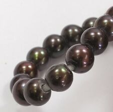 6-7 mm Large Hole Potato Chocolate Brown Freshwater Pearl Beads 1.8mm Hole (#14)
