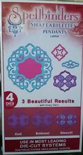 New Spellbinders Shapeabilities Pendants Lattice 4 die Cut Emboss Stencil